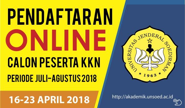 Pengumuman Pendaftaran Calon Peserta KKN Periode Juli-Agustus 2018 Secara Online