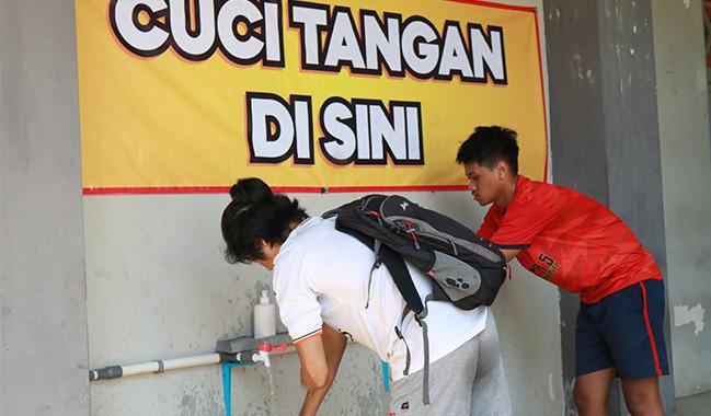 Cegah Corona, BPU Siapkan Tempat Cuci Tangan di Seluruh Unit Usaha