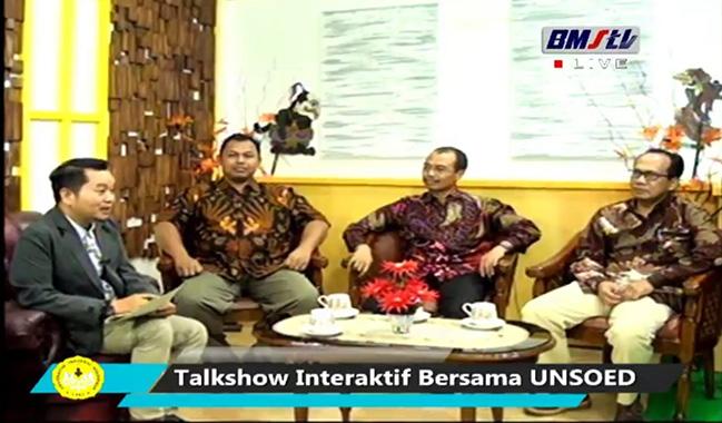 Jadi Narasumber Talkshow BMS TV, UNSOED Memperkenalkan Beras Premium